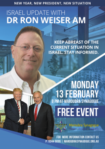 Israel update with Dr Ron Weiser