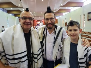 Mazal tov to Ethan Slender on putting Tefilin for the first time and on his Barmitzvah last Shabbat!