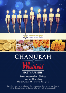 Chanukah at Westfield Eastgardens