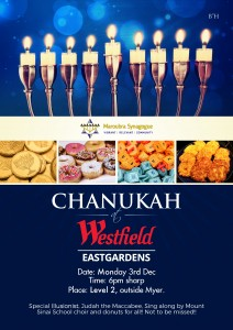Chanukah at Westfield Eastgardens 2018